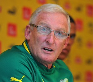 Bafana Bafana Coach, Gordon Igesund believes that Bafana were a better side on the night  and deserved to win. Picture by Safa.