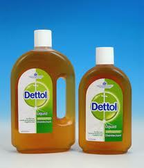 Anti-septic Dettol disinfectant. Picture form