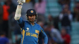 Sri Lanka skipper, Kumar Sangakkara celebrates his century against Proteas on Saturday. Picture SkySports