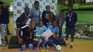 The winners of the tournament, Albert Parck United. Picture by Sihle Sikhakhane.