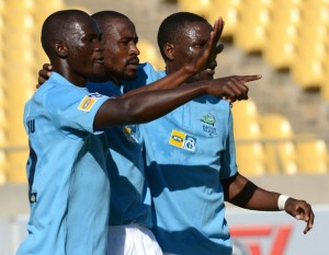 Platinum Stars players celebrating a goal.  Picture from MSN