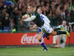 Brian Habana found himself on the scoring on Saturday as they crushed Argentina by 73 points to 13. Picture by msn.com