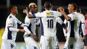 Wits players celebrating in a match where they thrubbed Bloemfontein Celtics 3-0 in an MTN 8 clash on Friday night. PIC from MSN