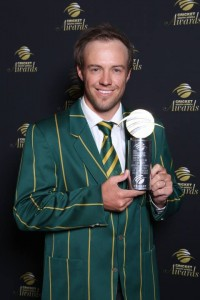 Captain AB de Villiers walked away with the Momentum ODI Player of the year award at the 2013 cricket awards held at Sandton on Monday night. Pictures by Cricket South Africa