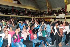 Audience members enjoying themselves at DUT. Pictures by Mhlengi Mafu