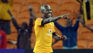 Knowledge Musona celebrates after scoring the first goal for Glomour Boys against Maritzburg United on Saturday. Picture by: KaizerChiefs