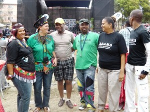 Culture, Parks and Recreation Head pose for a photo with Newlands-East residents and co-organisers of the event. Picture by Dale Munatswa