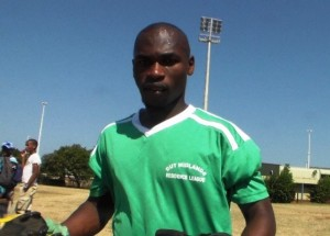 Thabani Ngcongo, from peps, in   Pietermaritzburg, after a soccer match. Picture by: Dale Munatswa