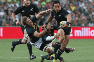 New Zealand resisted and conquered Springboks after a war of game in Eden Park Stadium. Picture by :Africanthunderevents.co.za