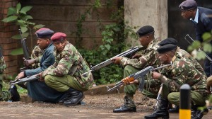 Kenyan defence forces prepare to launch assault to rescue hostages. Photo Courtesy: abc.net.au