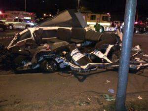 cars at the scene of the horrific accedent. Pictures from: iol.co.za