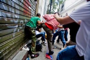 PROTESTA PERIODISTAS CADENA CAPRILES AGRESION