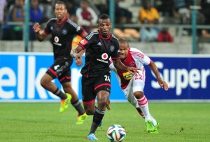 Khethokwakhe Masuku tried his best to assist Pirates to win the match but failed to break Ajax's solid defence. Picture by Soccer Laduma.