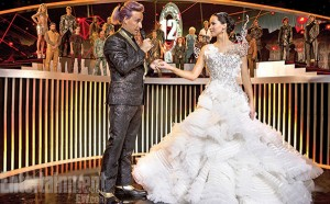 a scene from  Hunger Games Catching Fire. Pictures from: New York film critics circle.