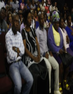 Members of the Mkhize family listening to speakers at the funeral. Pictures by: Given Jama