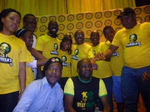 ANC and ANYCL members pose for a picture after the lecture with the Ministers. Picture by: Mhleli Mkhize