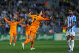 Cristiano  Ronaldo celebrates after netting his 25th goal of the season. Pictures by Soccerway.