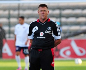 Orlando Pirates assistant coach, Eric Tinkler, whose future is yet to be decided by coach Vladimir Vermevozic. Pictures by: MTN football.