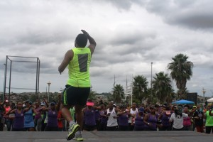 one of the trainers from Virgin Active taking it to the next level. Pictures by: Mhlengi Mafu.