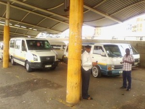 Some of the taxi drivers at F.N.G Rank who are taking matters into their own hands. Pictures by: Mhleli Gumede