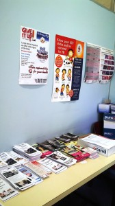 Series of brochures at every DUT clinic encouraging students to utilise the services available to them. Pictures by: Cassandra Zungu.