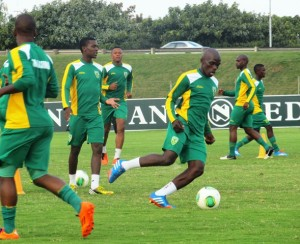 Golden Arrows players preparing for their Nedbank Cup last 16 clash against Mamelodi Sundowns on Saturday. Pictures by Siyanda Ndlovu.