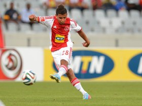 Keagan Dolly had an outstanding game on Friday evening against Polokwane City. Picture by ajaxct.co.za