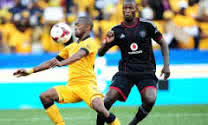 Rooi Mahamutsa challenges Chiefs' Bernard Parker as he becomes troublesome in their half. Pictures form: Soccer Laduma.