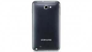 The rear view of the Samsung Galaxy S5.  Picture by:  www.v3.co.uk