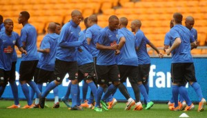 Bafana Bafana prepare themselves ahead of their friendly match against Brazil in FNB Stadium, Johannesburg. Pictures from Kick Off
