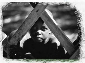 A picture by Steven James Collins making awareness on slavery. Picture from: www.flickr.com