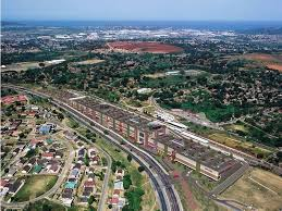 The birds eye view of the shopping centre and the Umlazi Township.  Pictures by: Thobele Nzama
