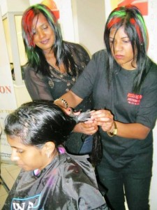 In support of those fighting cancer, a young brave girl takes her hair out. Picture by: Marcelle Naidoo