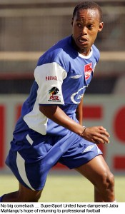 The new SuperSport United signing Jabu Mahlangu during  the team's reserve game. Picture by: SuperSport.com