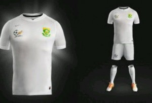 New bafana bafana kit that will regulate player temperature during soccer matches. Pictures from: ystream.com