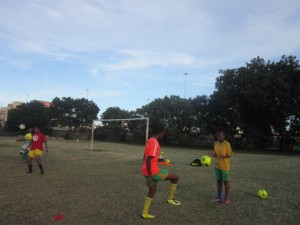 The Durban University of Technology ladies football team preparing for their next league encounter against Mangosuthu University of Technology on Wednesday. Pictures by: Andile Nxumalo