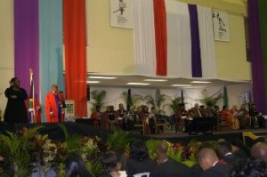 one by one students make their way to the podium after their names were called. Pictures from: DUT web page.