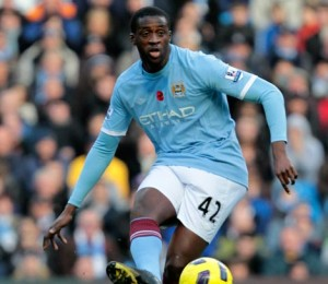 Yaya Toure finishes off his hat-trick with a superb 25 metre strike. Pictures from: kickoff.com