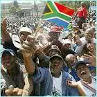 Crowd of people celebrating freedom in south Africa. Pictures  from: Navalis Ubuntu Institute.