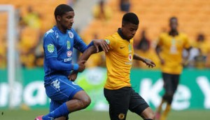 Kaizer Chiefs 'George Lebese (right) displayed a sterling performance against SuperSport United  as he fired Amakhosi to Nebank Cup semi-finals with his late brace. Pictures from: Soccer Laduma.
