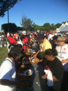 Meals being served at the grounds. Pictures by: Marcelle Naidoo.
