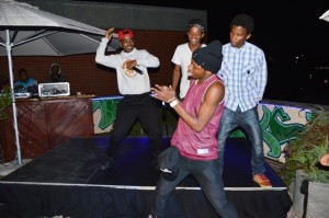 The Maniax Crew kept the crowd on their feet as they were doing their thing on stage. Picture by: Sandile Zikhali.