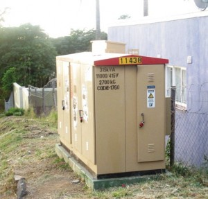 Substation power box that was used to shut down power in Clermont. Picture by: Siphephelo Sibiya