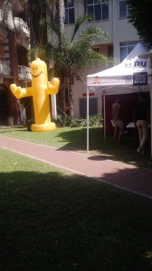 condom use and testing campaign at DUT city campus. Pictures by Mbali Sthebe. 