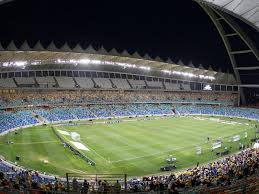 Moses Mabhida hosting a local Absa Premiership match. It is known for hosting big matches like cup finals. Picture from: Bayhill.