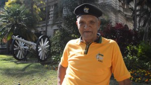 Ronald Degee, 65: I am very happy. I am proud. With President Zuma, a lot has changed. I am here because it is better to be here to watch and celebrate with the people than to be at home all by myself – I am enjoying the over all vibe here.