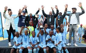 Mzuvukile Primary School under-12 soccer team.