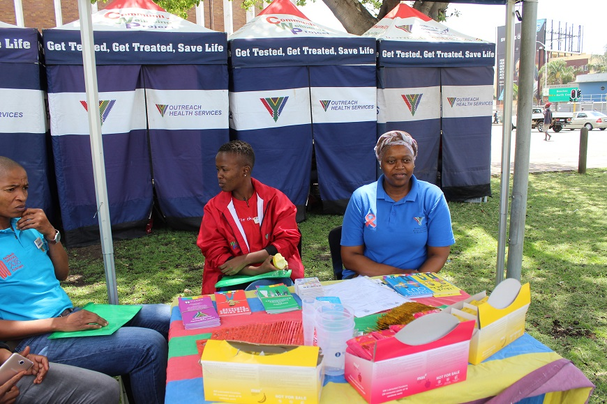 and members of LGBTI Community and Health Centre at King Dinizulu Park