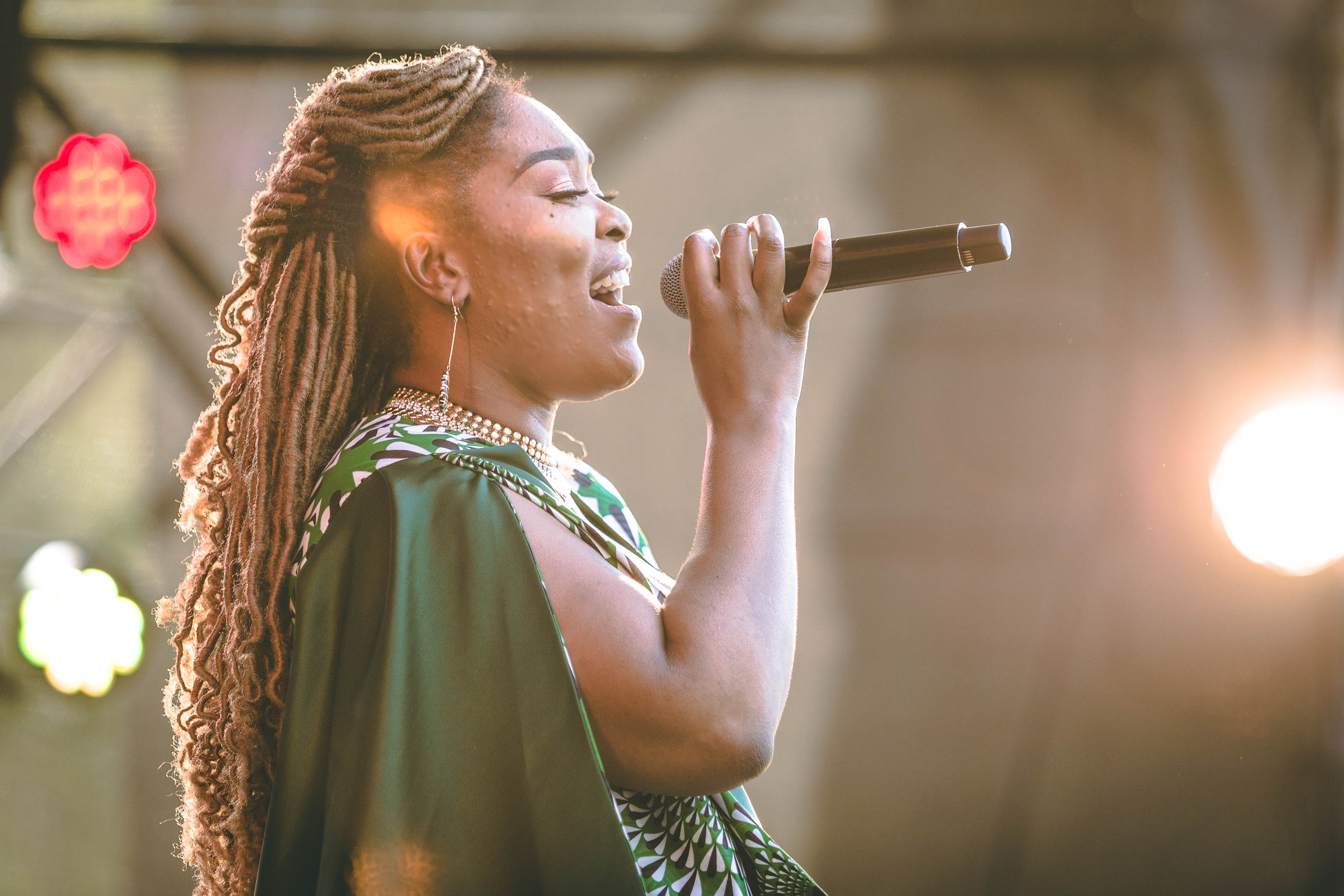 Lady Zamar performing her hits on stage